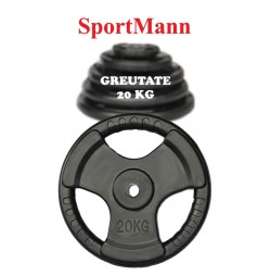 Greutate cauciucata 20kg/31mm Sportmann