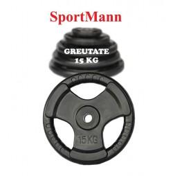 Greutate cauciucata 15kg/31mm Sportmann