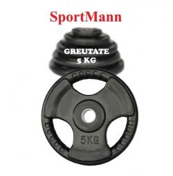 Greutate cauciucata 5kg/31mm Sportmann