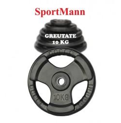 Greutate cauciucata 10kg/31mm Sportmann