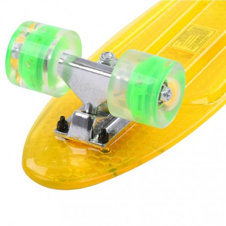 Penny board Maronad Retro Transparent cu roti iluminate