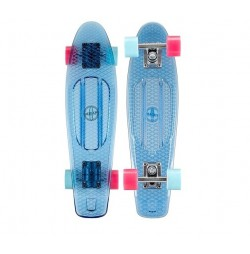 Penny board Nijdam transparent-albastru