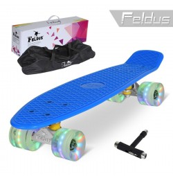 Penny board Feldus 22'' cu roti LED ABEC 7 K451E