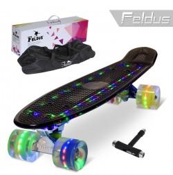 Penny board Feldus 22'' FULL LED ABEC 7 K454E