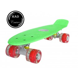 Penny board Mad Cruiser cu roti LED ABEC 7-verde