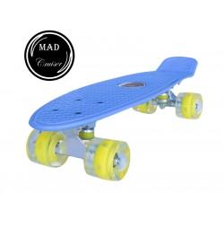 Penny board Mad Cruiser cu roti LED ABEC 7-albastru