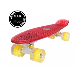 Penny board Mad Cruiser Full LED ABEC 7-rosu