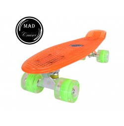 Penny board Mad Cruiser Full LED ABEC 7-oranj