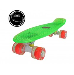 Penny board Mad Cruiser Full LED ABEC 7-verde
