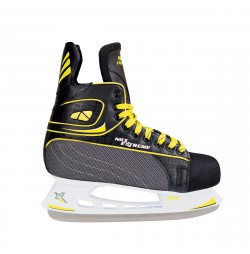 NIls Patine hockey negru/galben NH8556S