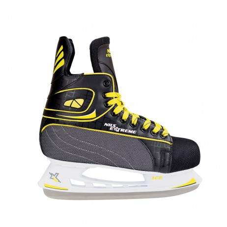 Nils Extreme Patine hockey-negru/galben
