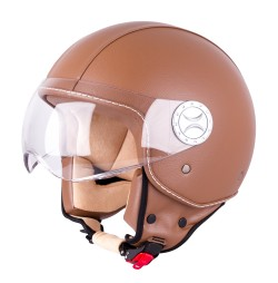 W-TEC Casca scuter FS-701B Leather Brown