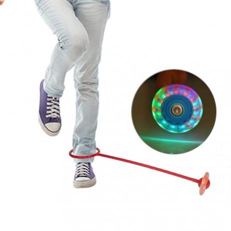 Roata pentru Sarit cu LED Sportmann - Rosu