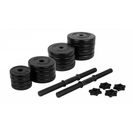 Gantere PVC cu ciment 2x20kg Sportmann
