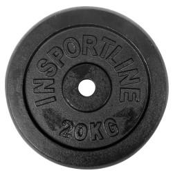 Disc Greutate fier inSPORTline Castblack 20 kg/30 mm
