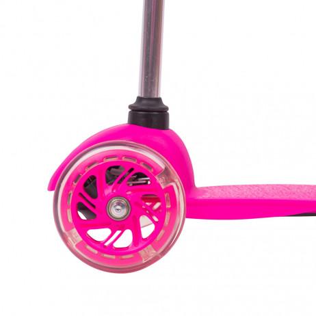Trotineta cu roti iluminate WORKER Lucerino 120 mm-roz