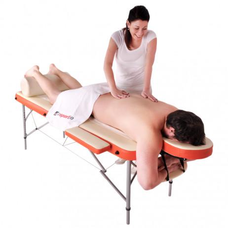 Masă din aluminiu pentru masaj inSPORTline Tamati - din 2 bucăți
