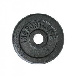 Greutate oțel inSPORTline Blacksteel 0.5 kg/30mm