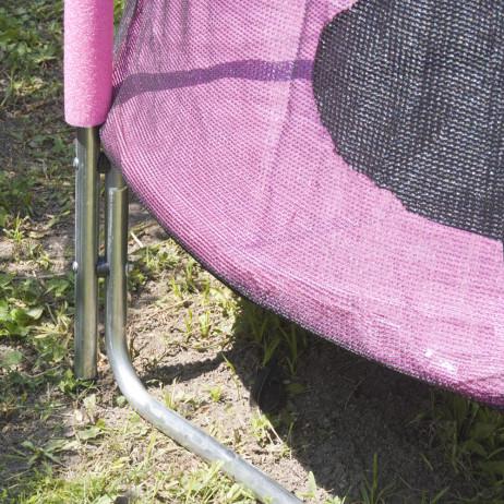 Trambulina si plasa de siguranta Sportmann 140 cm-roz