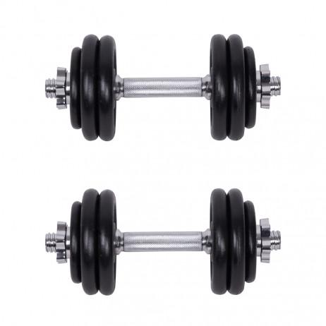 Set Gantere si Haltere cu Valiza inSPORTline 50 kg
