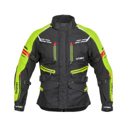 Geaca Moto Barbati W-Tec Ventura Negru/Galben Florescent