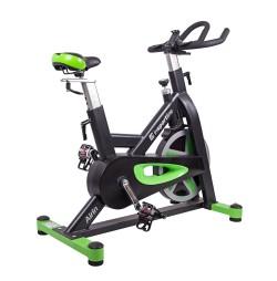 Bicicleta indoor cycling inSPORTline Airin/negru-verde