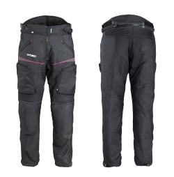 Pantaloni Moto Femei W-TEC Propant Negru/Roz