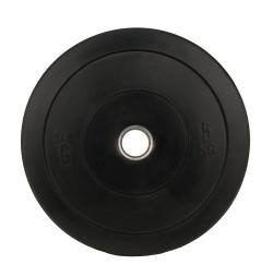 Greutate Cauciuc Bumper Plate SPORTMANN - 5 kg / 51 mm - Negru