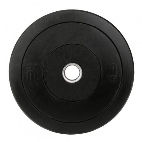 Greutate Cauciuc Bumper Plate SPORTMANN - 10 kg / 51 mm - Negru