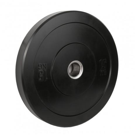 Greutate Cauciuc Bumper Plate SPORTMANN - 15 kg / 51 mm - Negru