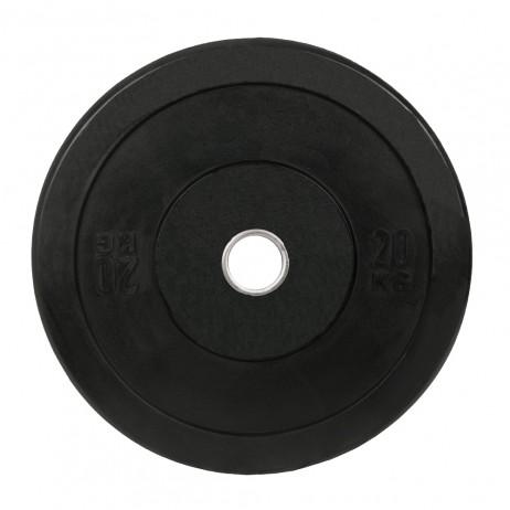 Greutate Cauciuc Bumper Plate SPORTMANN - 20 kg / 51 mm - Negru