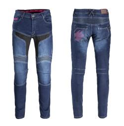 Pantaloni Moto Femei W-TEC Alfreda CE Albastru
