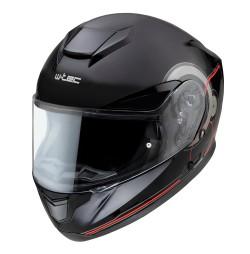 Casca Moto W-TEC Yorkroad Rusion Negru/Rosu