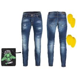 Pantaloni Moto Barbati Jeans W-TEC Feeldy Albastru