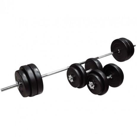 Set Gantere si Bara inSPORTline BS08 3-50kg