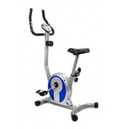 Bicicleta magnetica SMART- argintiu/albastru
